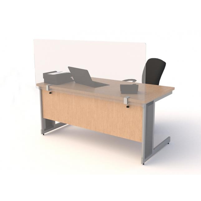 Desk screens with clamps