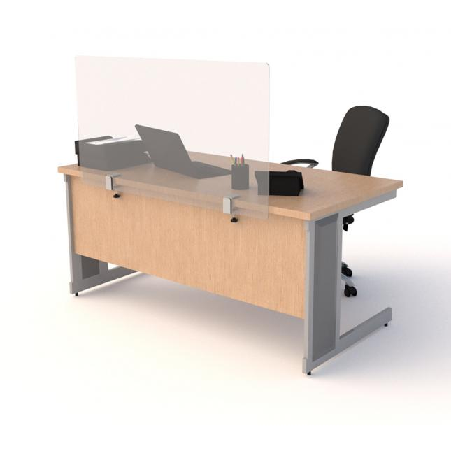 Acrylic desk screens with clamps