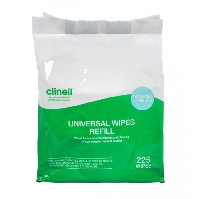 Pack for refilling clinell universal wipes bucket