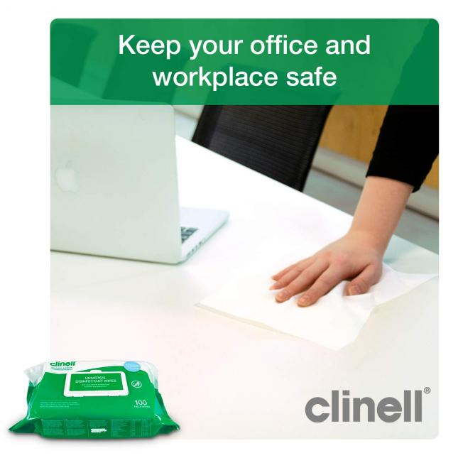 Clinell Universal Wipes for the workplace
