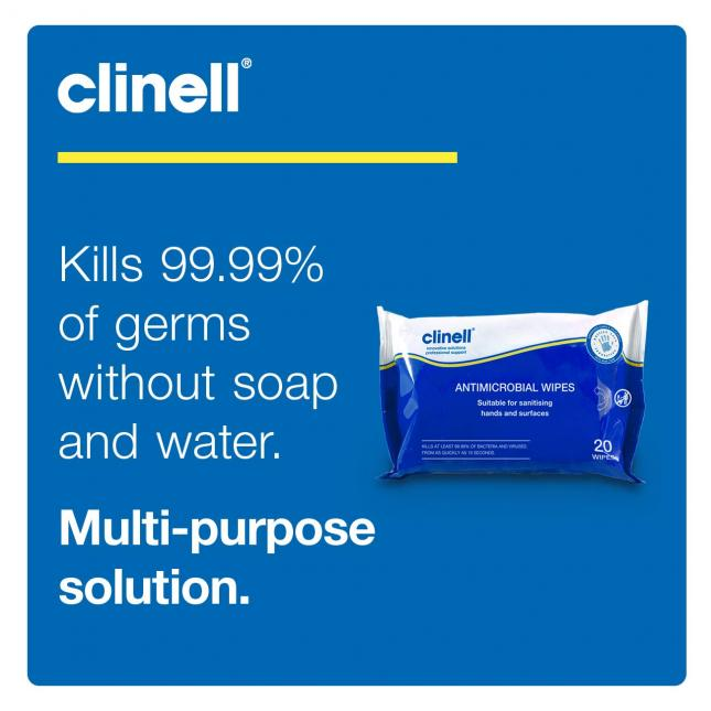 Benefits of Clinell antibacterial wipes