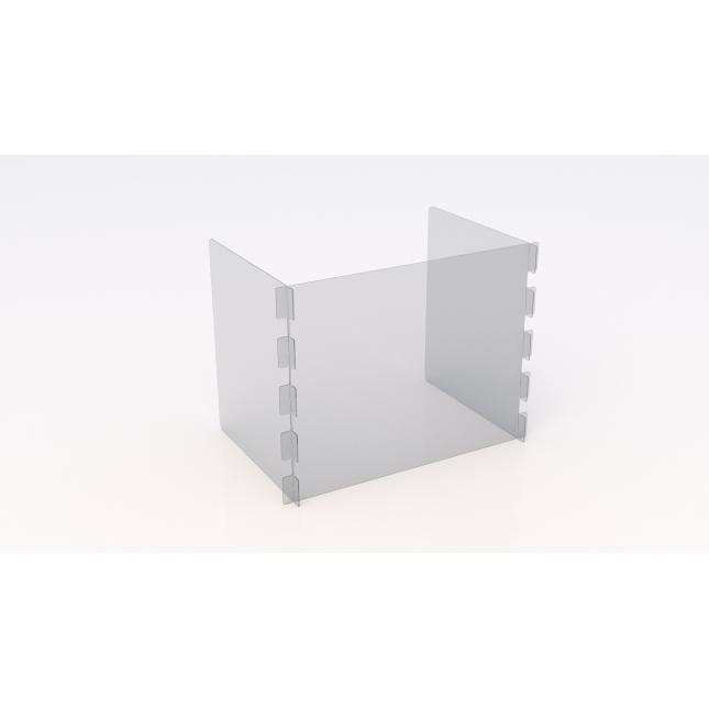 Small U shape simple perspex screen with no slot or feet