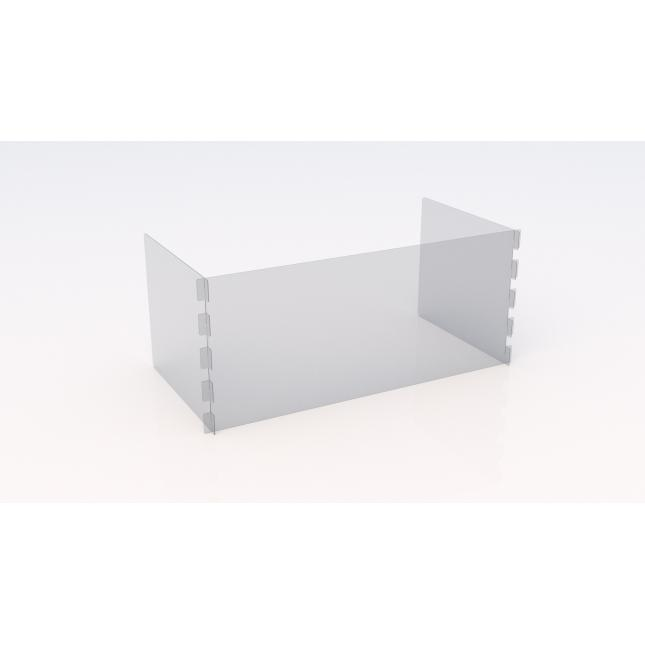 Larger U shape simple perspex screen with no slot or feet