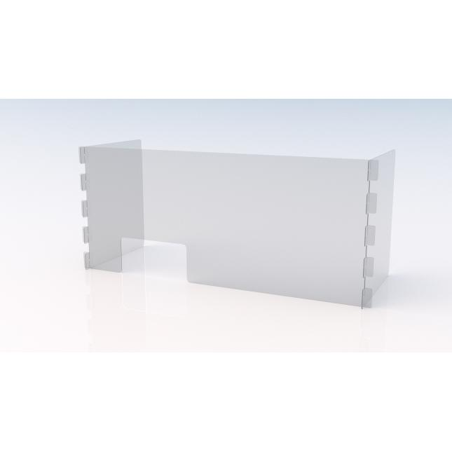 Large U shape simple perspex screen with envelope slot