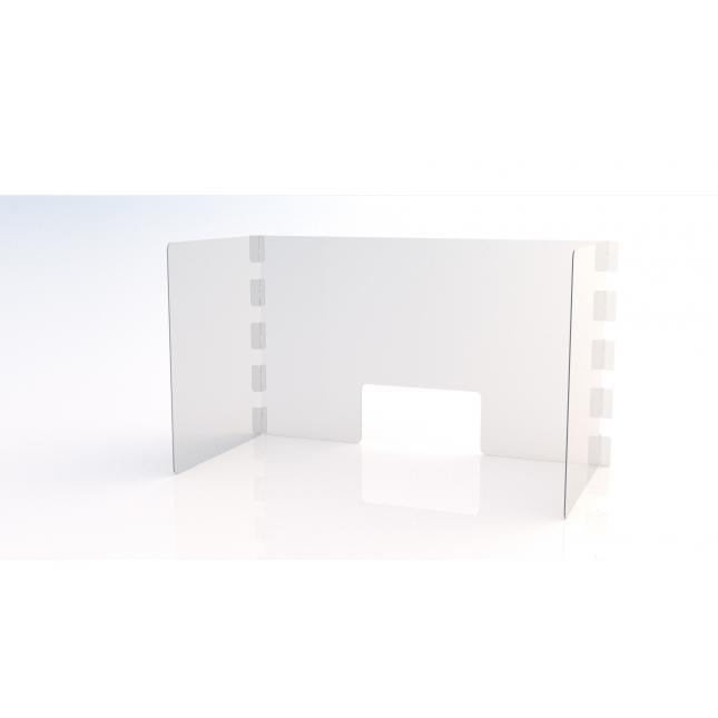 U shape simple perspex screen with envelope slot