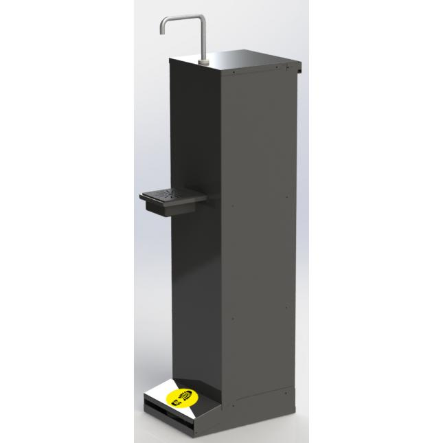 Foot operated sanitiser stand - anthracite black as standard