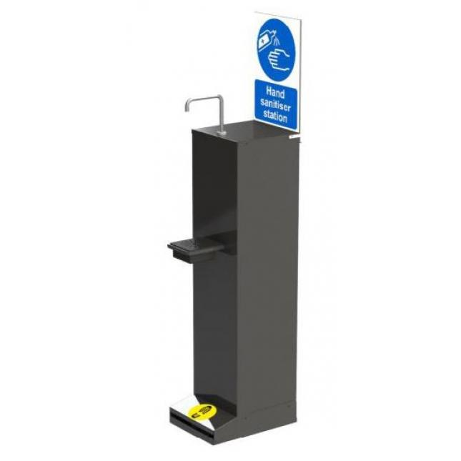Stock artwork sign for foot operated sanitiser stand