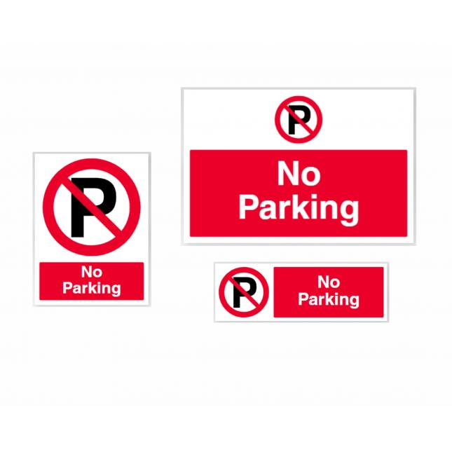 No parking prohibition signs