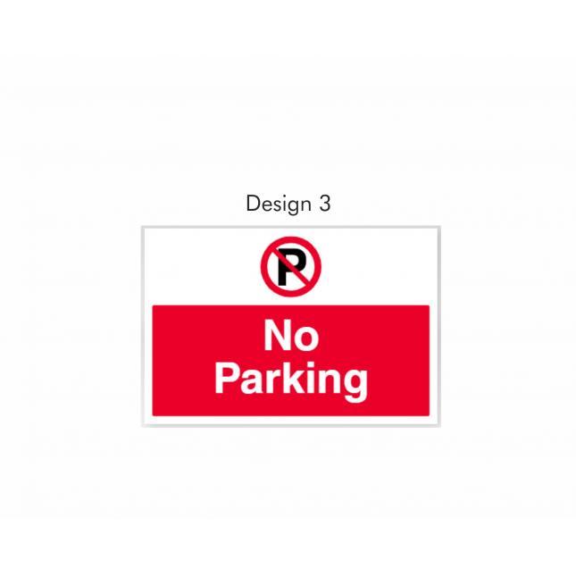Design 3 No Parking sign