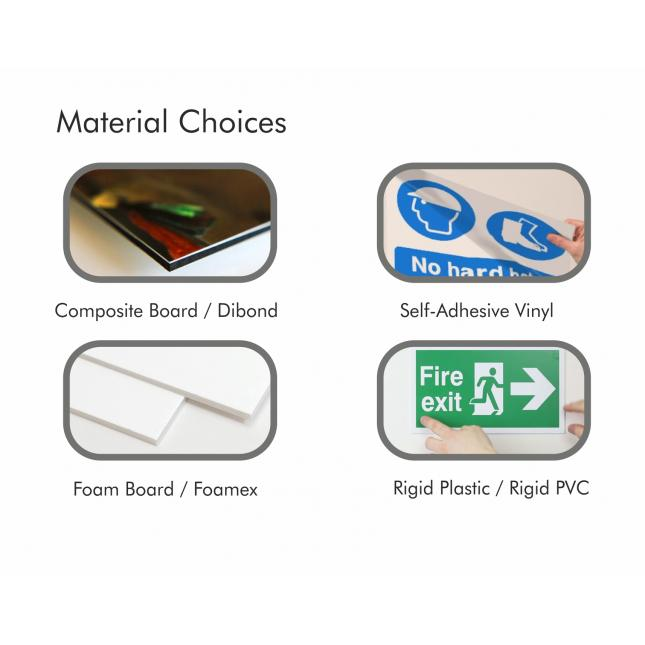 Safety sign material options