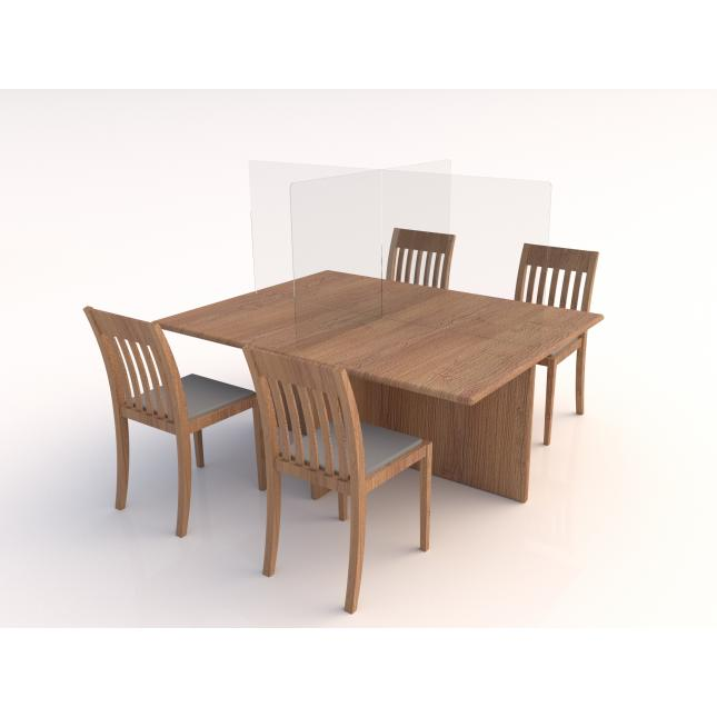 Table top acrylic screen with no feet