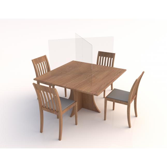 Social distancing table screen