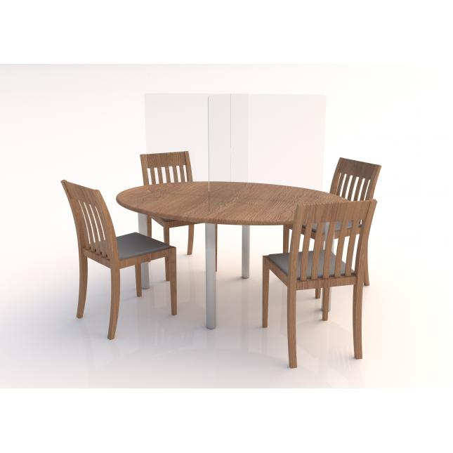 Perspex table dining screens