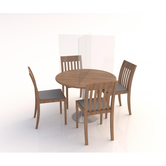 Dining table acrylic screen divider