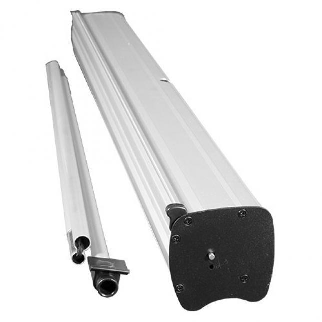 Clear roller banner hardware