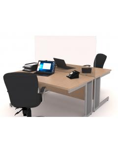 Perspex Desk Screen with Clamps