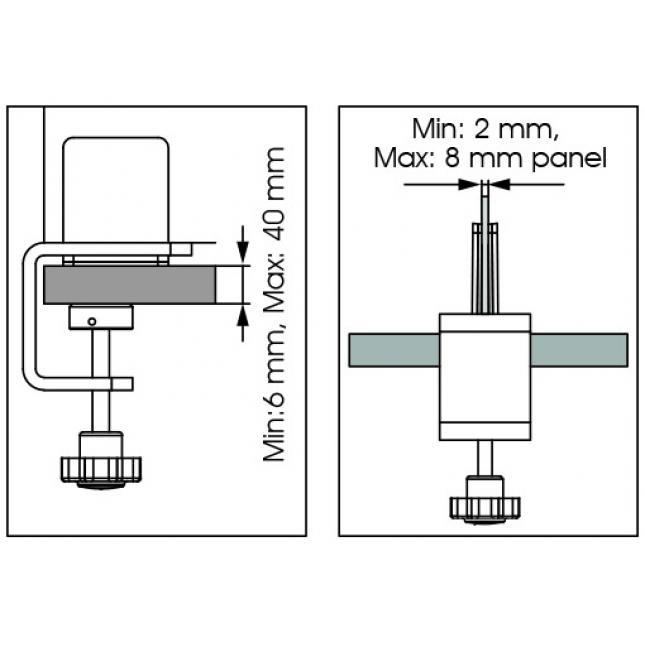 Desk Clamp Dimensions