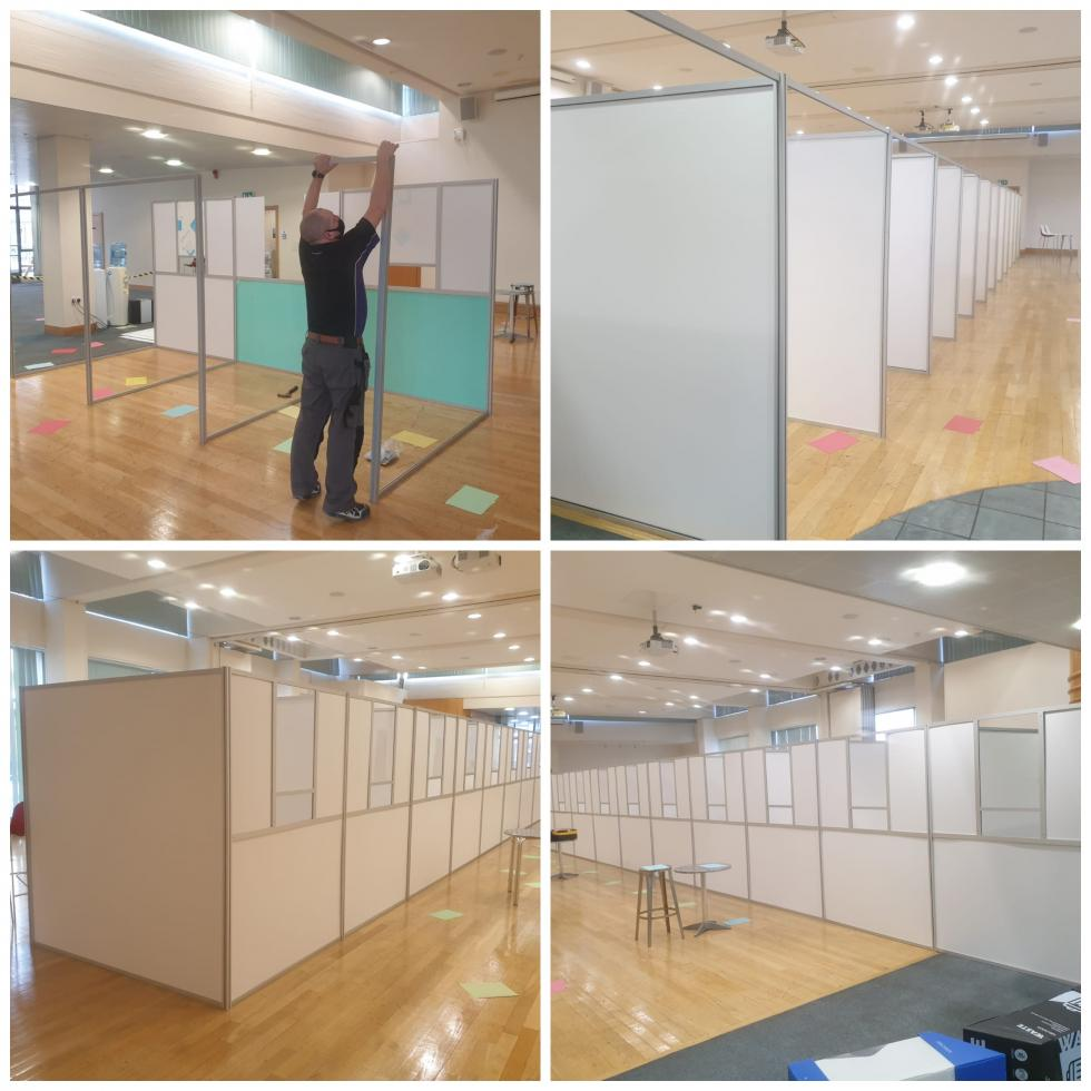 Installation of hired covid testing pods
