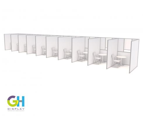 COVID testing pods GH Display