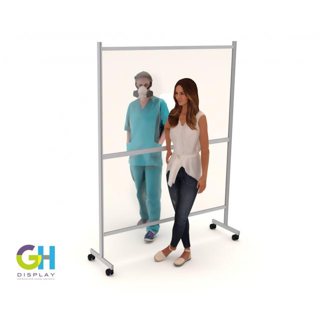 Large vaccine screen with casters