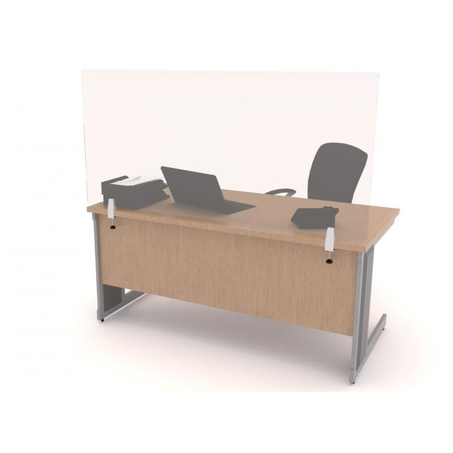 Clear sneeze screen desk dividers