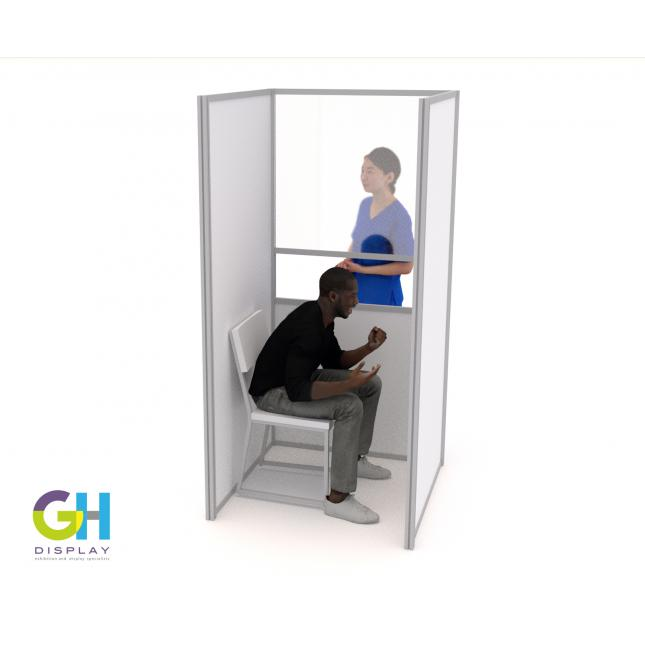 Compact Covid Testing Booth