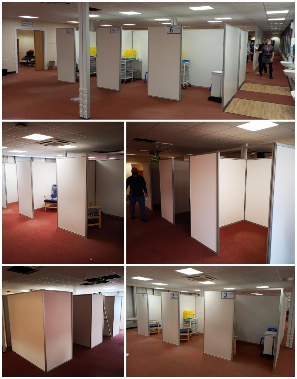 Vaccination Booth Install Liverpool