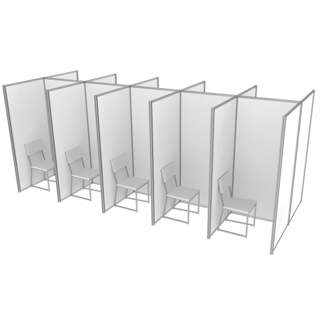 Basic COVID Pod Booths Screen
