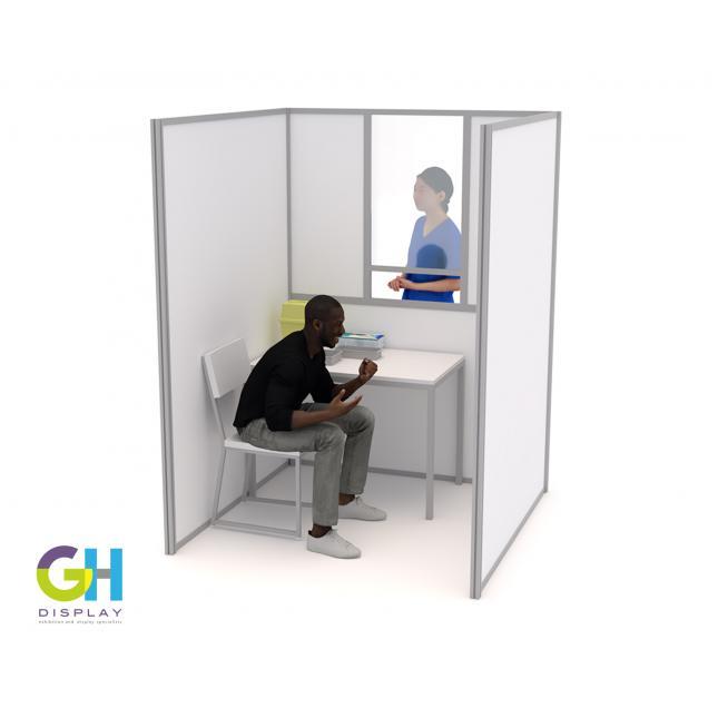 1.5m x 1.5m covid testing booth