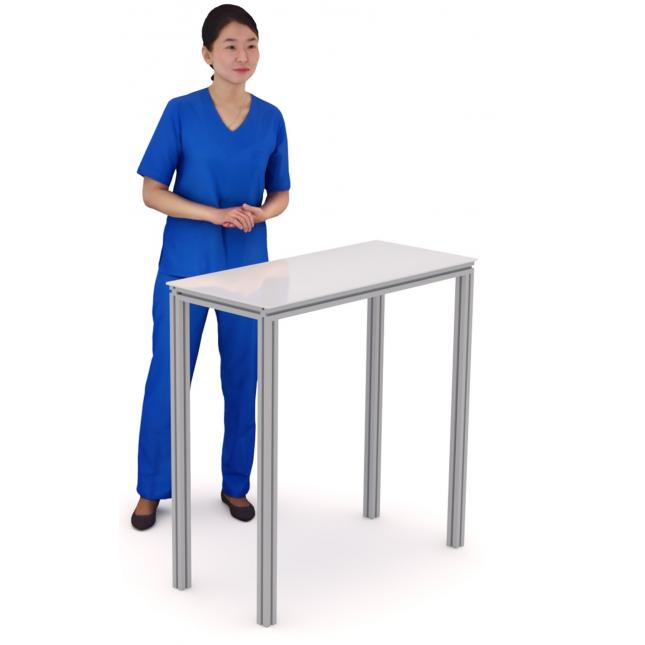Table for COVID Testing Booths and COVID Vaccination Pods