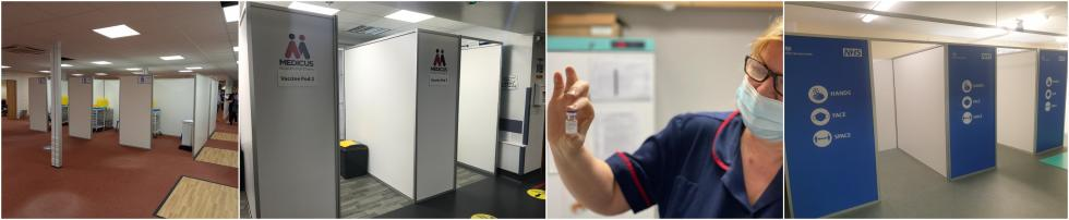COVID Vaccination Pods and COVID Testing Booths