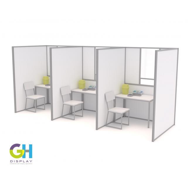 1.5m x 1.5m COVID Testing Booths