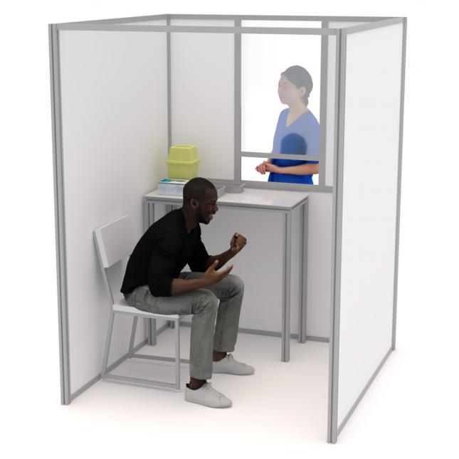 1.5m COVID Testing Booth