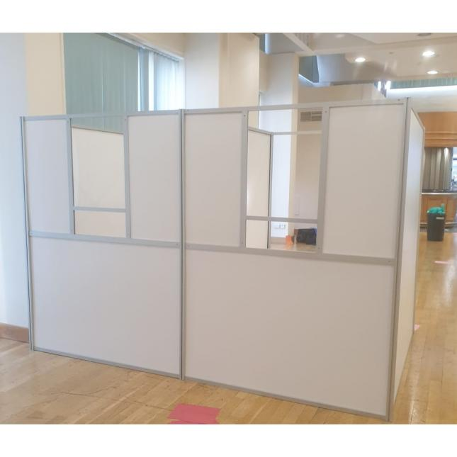 COVID testing booths