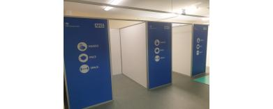 NHS London North West Healthcare Vaccination Booths