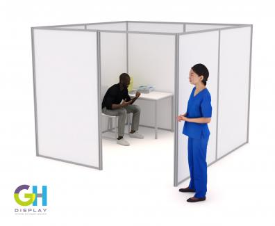 COVID Vaccination Booths Large