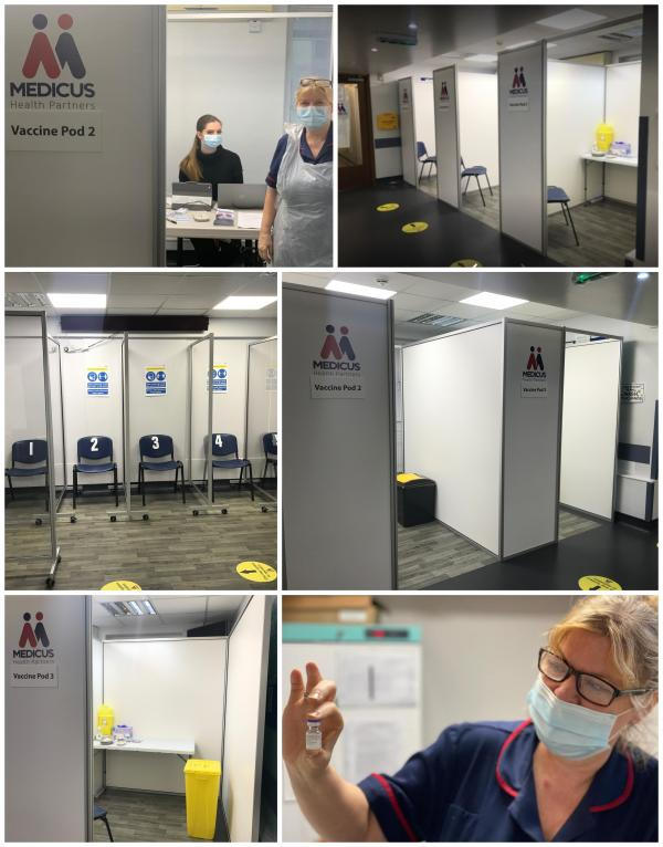 Enfield NHS Vaccine Booths