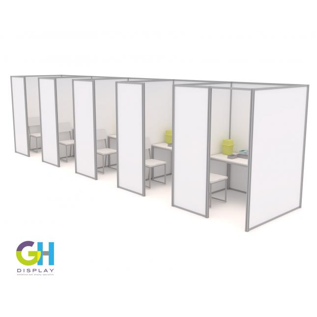 1.5m self build covid vaccination booths