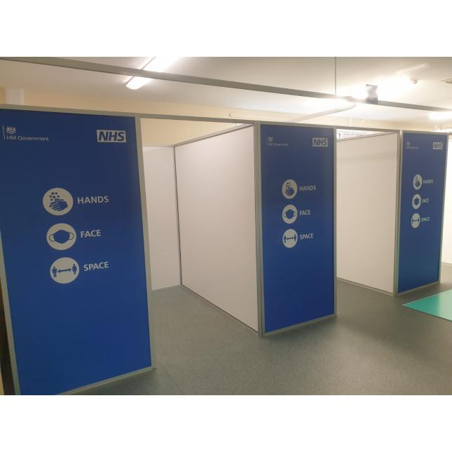 NHS Medium COVID Vaccination Booths