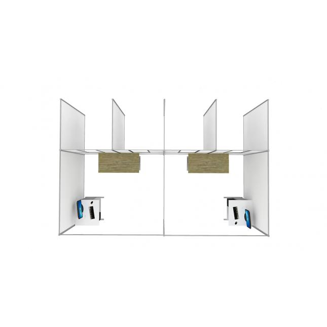 Plan view Self contained covid testing unit