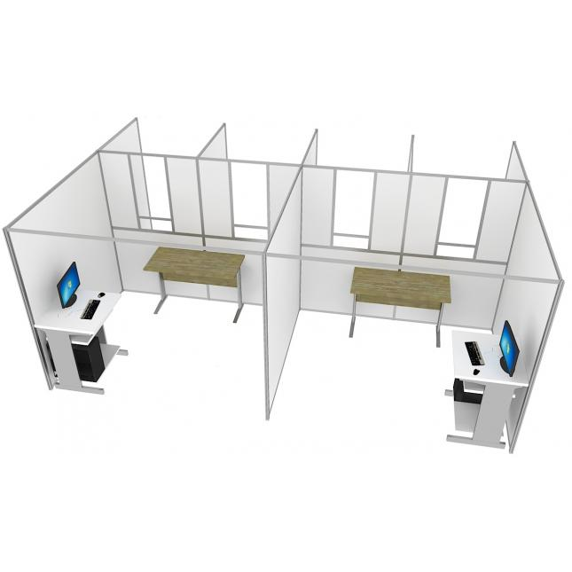 Self contained covid testing booths