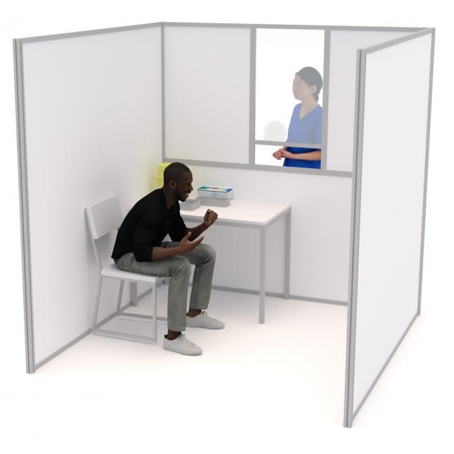 2m self build COVID testing Booth