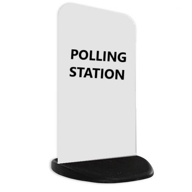 Polling Station Pavement Sign