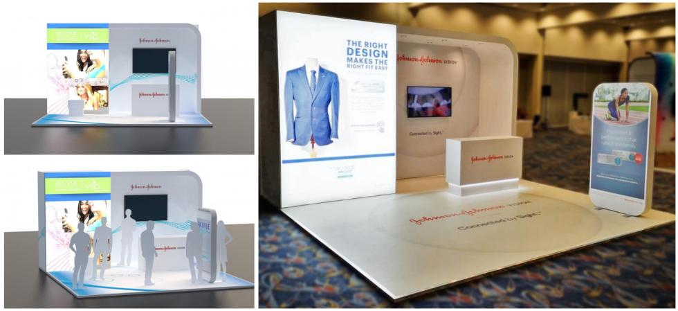 Custom Exhibition Stand for Johnson and Johnson