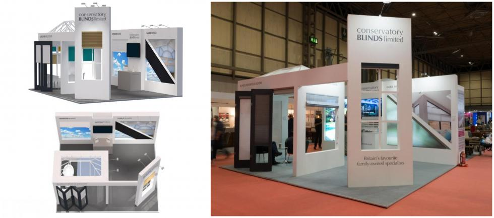 Conservatory Blinds Custom Exhibition Stand