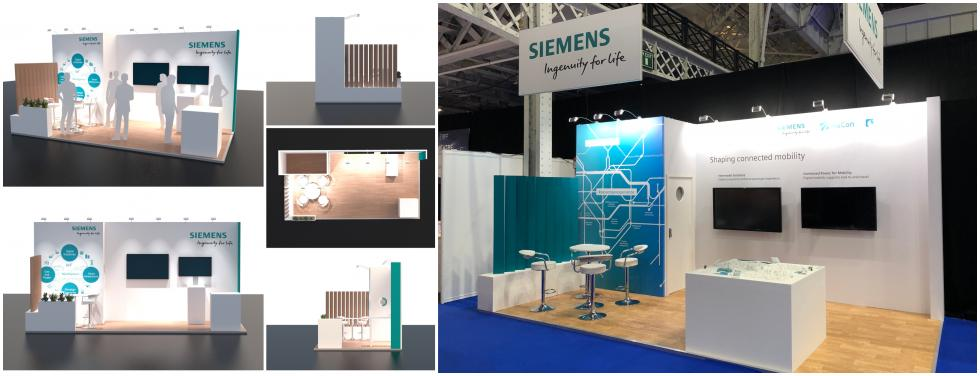 Custom exhibition stand for Siemens Mobility