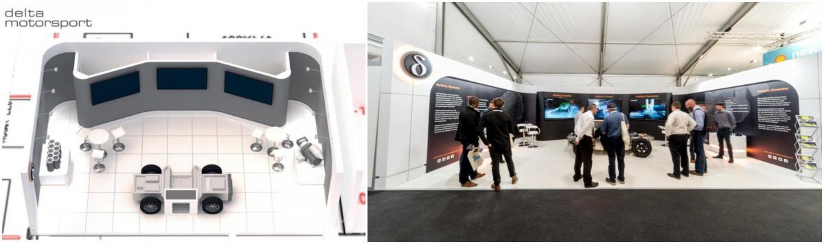 Custom Exhibition Stand for Delta Motorsport