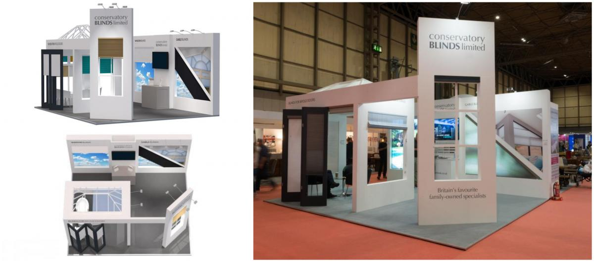 Custom Exhibition Stand for Conservatory Blinds