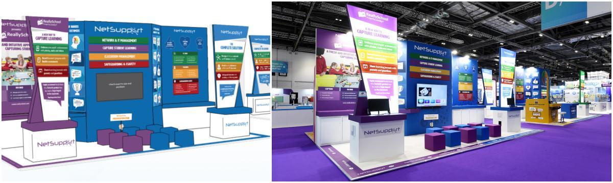 Custom Exhibition Stand Design for Netsupport