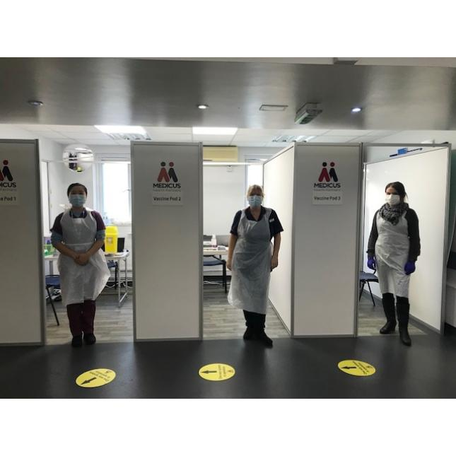 COVID Vaccination Booths Small